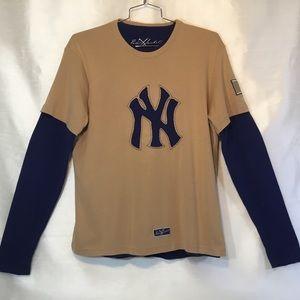 Red Jacket NY Yankees Layered Tee Shirts